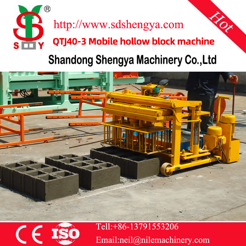 QTJ40-3 Mobile hollow block machine