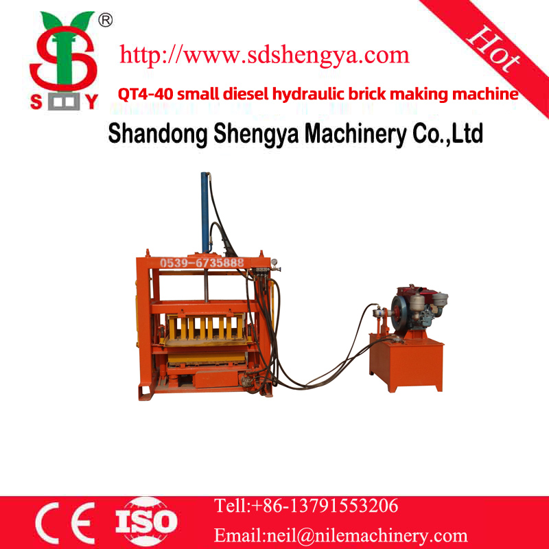 QT4-40 small diesel hydraulic brick making machine